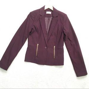 Love & Liberty   Purple Long Sleeve Blazer Women Size L
